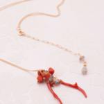 サルディニア赤珊瑚&ラブラドライトネックレス