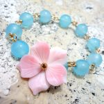 Hibiscus bracelet(blue)